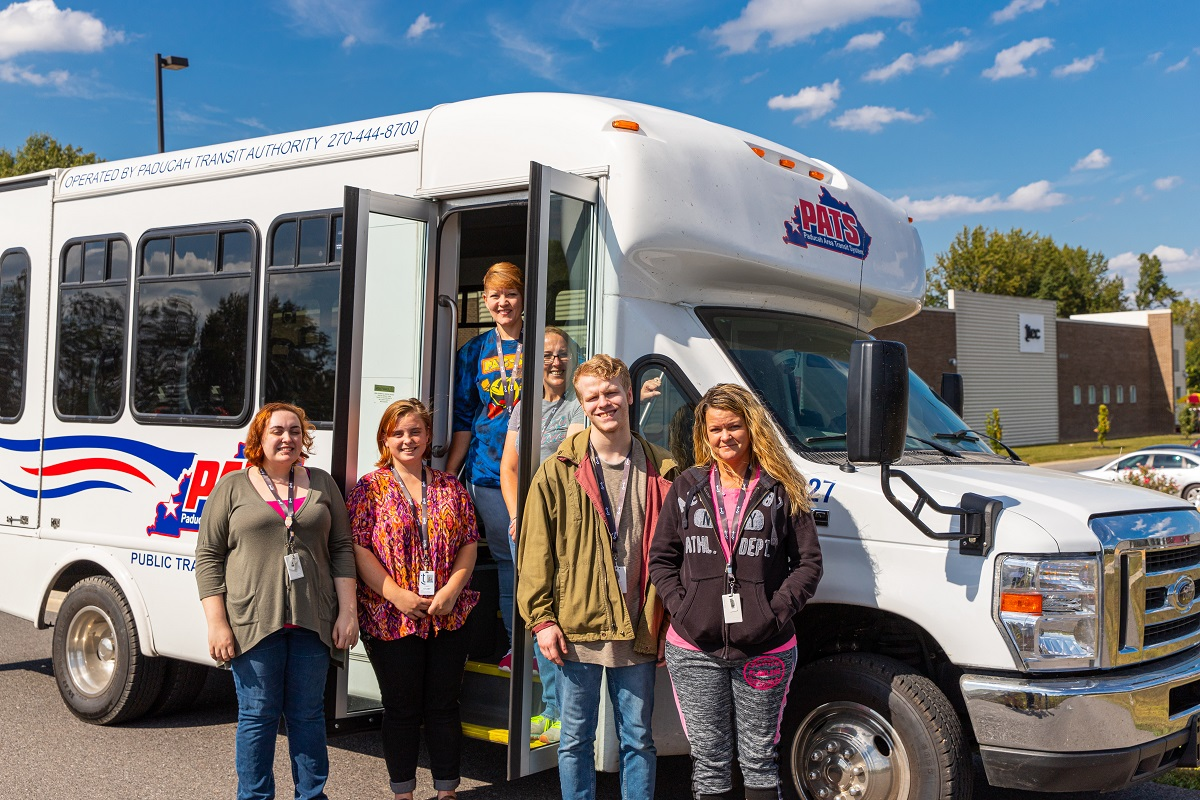 PATS bus with students