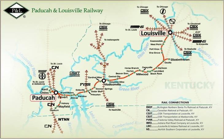 P&L Rail Map